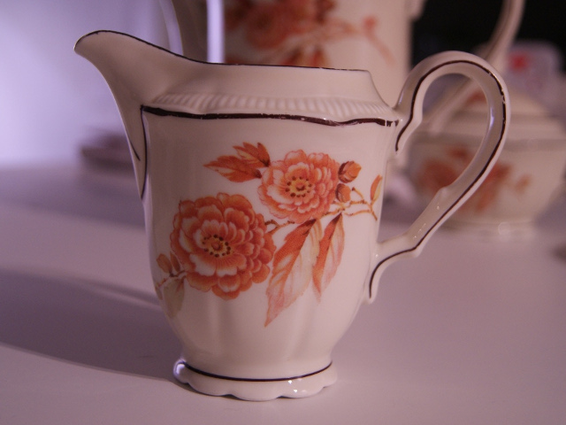 Porsgrund milk jug with flowers
