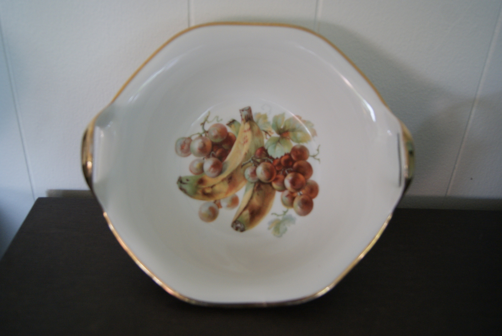 Porsgrund bowl decorated with fruits - grapes and bananas