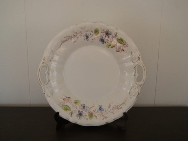 Egersund plate (dish) with blue flowers