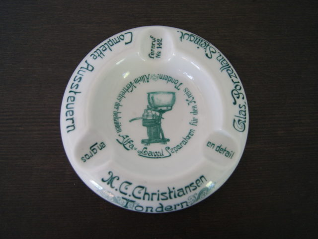 Waldenburg – Altwasser ashtray M. C. Christiansen, Tondern
